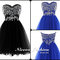 Niceoo dresses | new little black a-line/princess sweetheart short/mini tulle prom dresses with beaded sleeveless