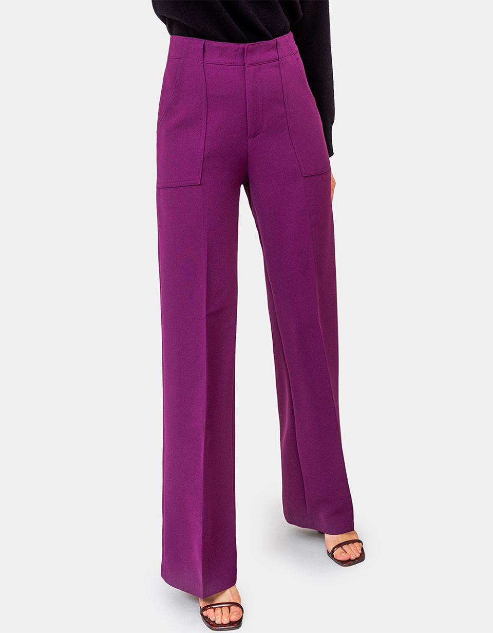 Otto Wide Leg Pants in Plum
