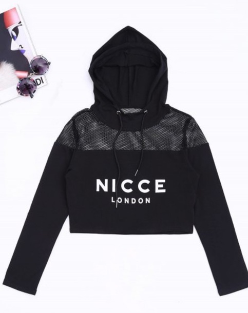 sweater girly black sweatshirt hoodie mesh