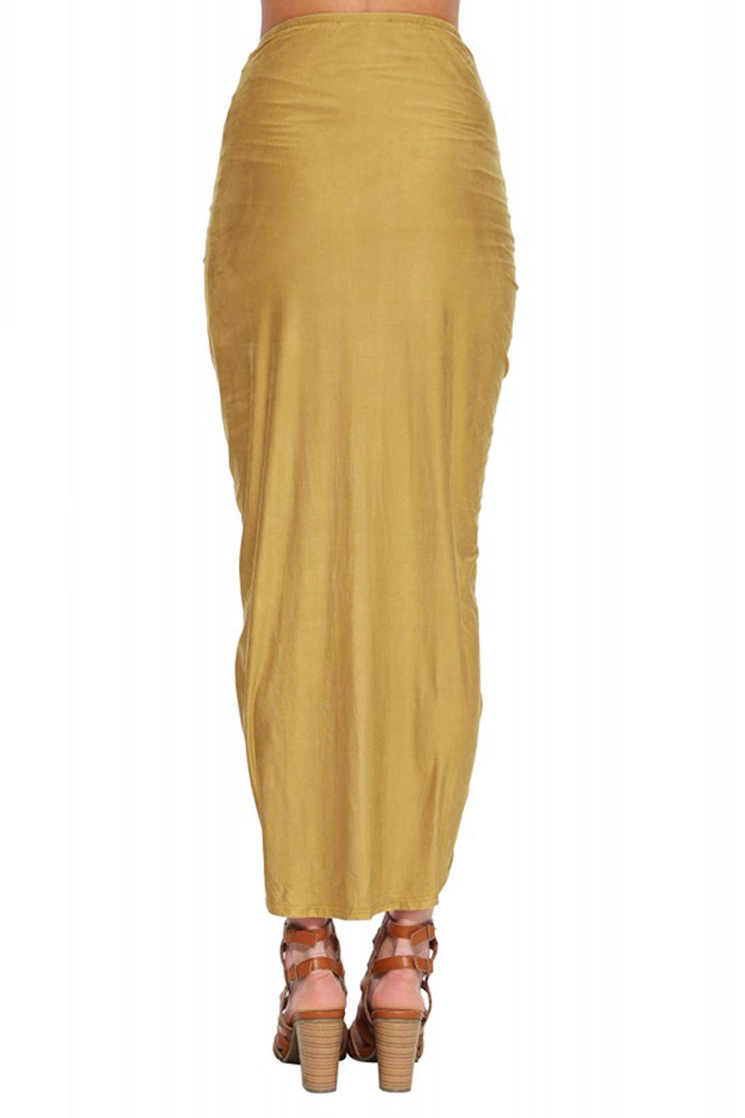 yellow wrap pleated high low skirt us 21 95 yoins