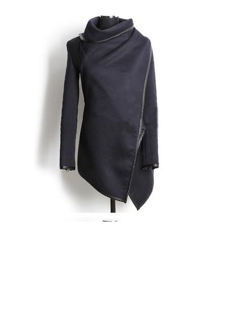 jacket black side zipper coat trench coat sexy sweater cute black jacket wrap jacket