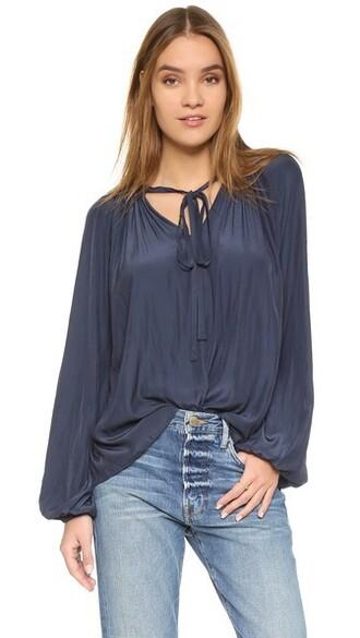 blouse paris navy top