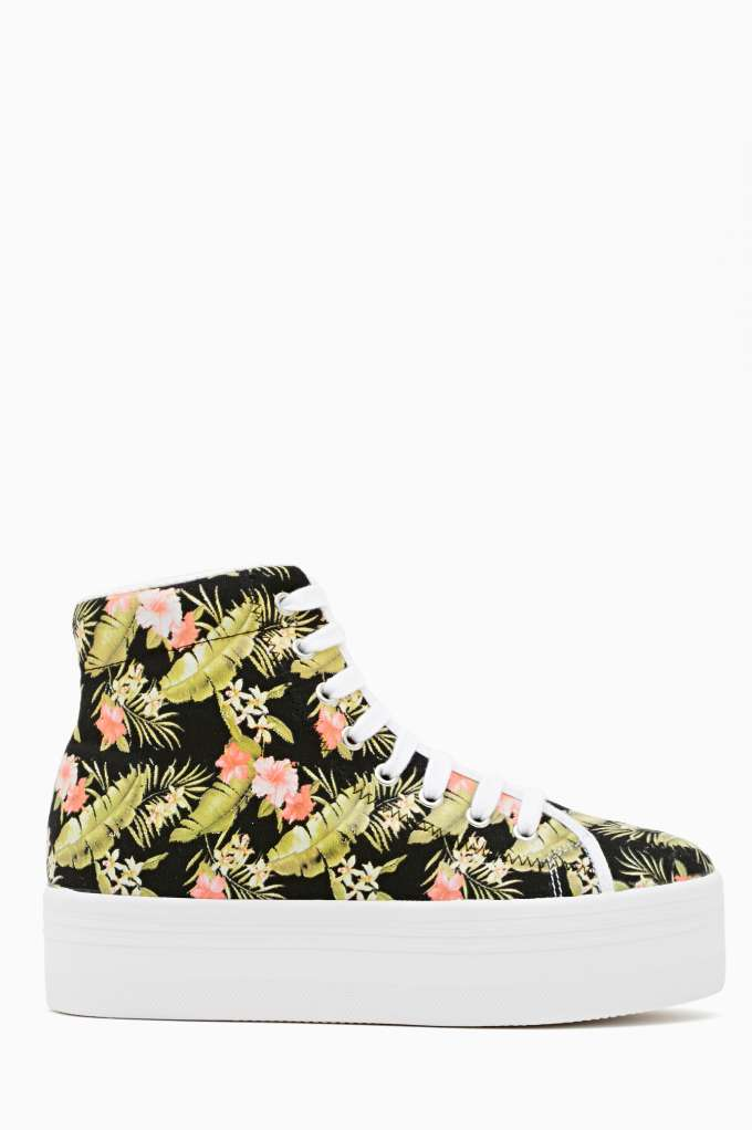 Homg Platform Sneaker - Tropic in  Shoes Sneakers High-Tops at Nasty Gal