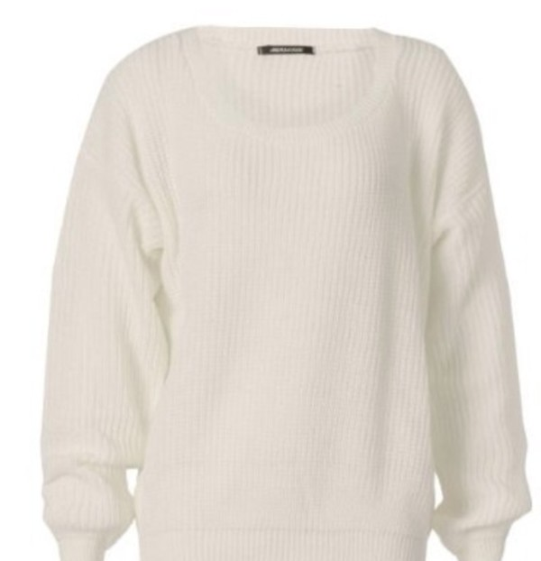 white cream sweater oversized sweater