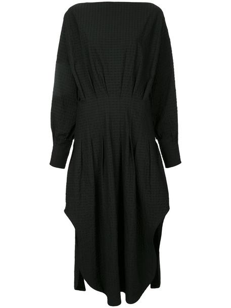 Christopher Esber dress shirt dress women spandex cotton black