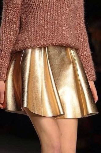 skirt metallic gold pretty skater skirt gold skirt metallic skirt gold metallic