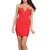 Criss Cross Red Deep V Bustier Dress | Emprada