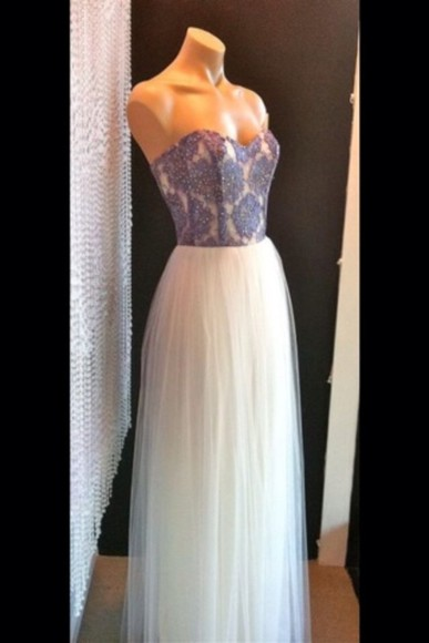 dress white pretty blue and white chiffon sparked bedazzle diamond long dress bedazzled dress prom dress baby blue spring dress long prom dress 2014 prom dresses netting dress, white dress, lace, simple, short dress white, cute, ariana grande , vintage, pretty, girly, ariana grande, kawaii,