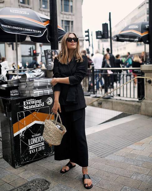 skirt top black top kirt long skirt black skirt shoes sunglasses bag