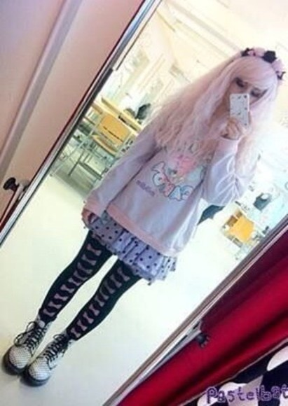 pastel purple cute shirt poka dots