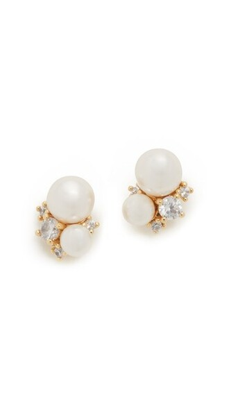pearl earrings gold jewels