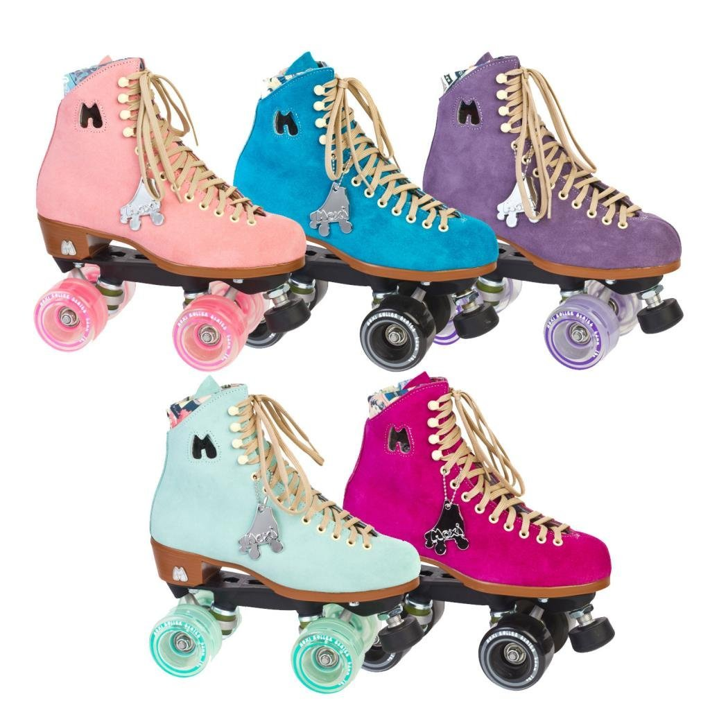 Amazon.com : Moxi Lolly Suede High Top Outdoor Roller Skates - Available in 5 Colors : Sports & Outdoors