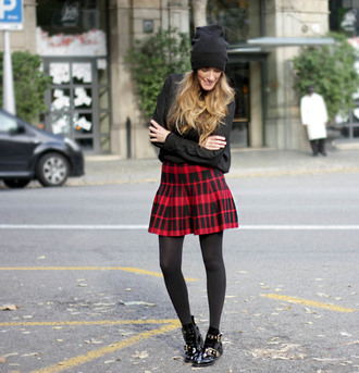 rebel attitude blogger flannel ankle boots beanie