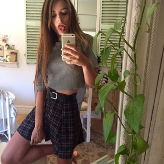 skirt grunge plaid