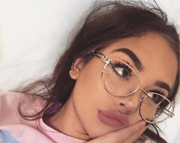 Sunglasses Instagram Round Sunglasses Glasses Clear