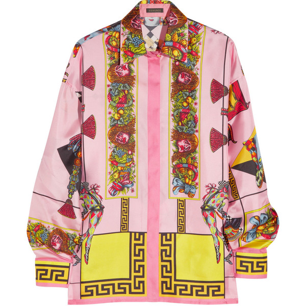 Versace Barocco printed silk-twill shirt - Polyvore
