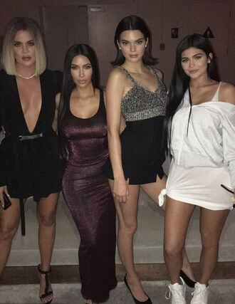 dress plunge dress plunge v neck mini dress black dress maxi dress kim kardashian kardashians kendall jenner kylie jenner shoes kourtney kardashian khloe kardashian