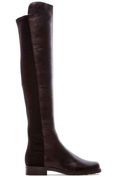 STUART WEITZMAN boot leather brown