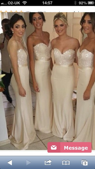 sweetheart neckline bridesmaid cream dress ivory dress