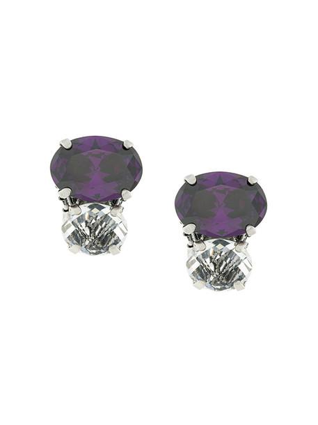 RADÀ metal women embellished earrings stud earrings grey metallic jewels