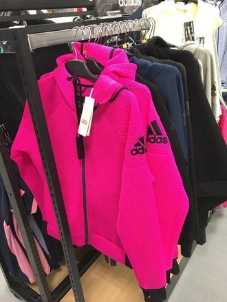 jacket adidas jacket hot pink adidas adidas originals adidas sweater cute pink hoodie