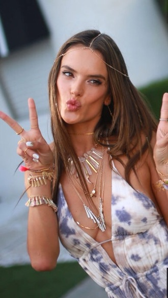 jewels alessandra ambrosio crystal quartz boho jewelry dress coachella