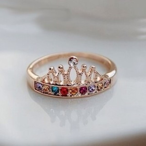 jewels ring gold ring silver crown ring