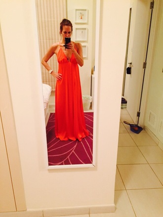 dress orange long