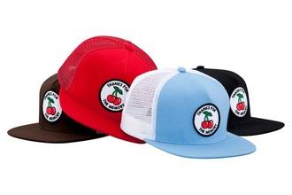 hat supreme cherry red black black hat