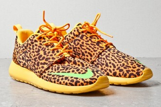 shoes nike roshe run leopard print