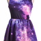 Purple pink sleeveless galaxy pattern dress - sheinside.com