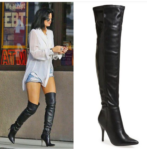 Shoes: kylie jenner boots, black boots, high heels boots, black ...
