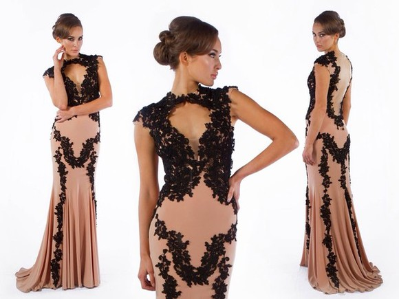 dress lace long evening dresses evening dress black lace dress long prom dress wedding dress
