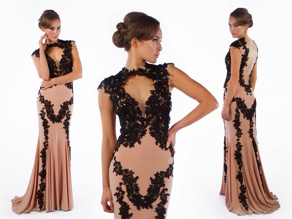 dress black lace dress lace long evening dress evening dress long prom dress wedding dress