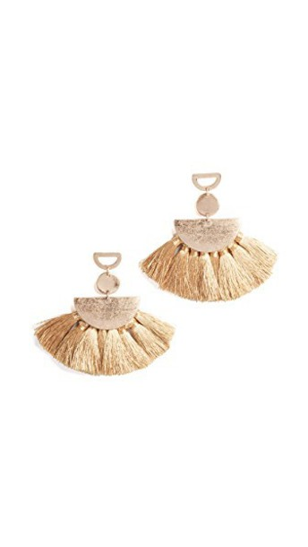 SHASHI tassel earrings gold yellow jewels