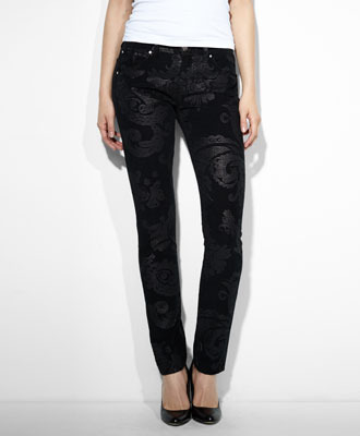 Levi's Boyfriend Skinny Pants - Larger Brocade - Boyfriend