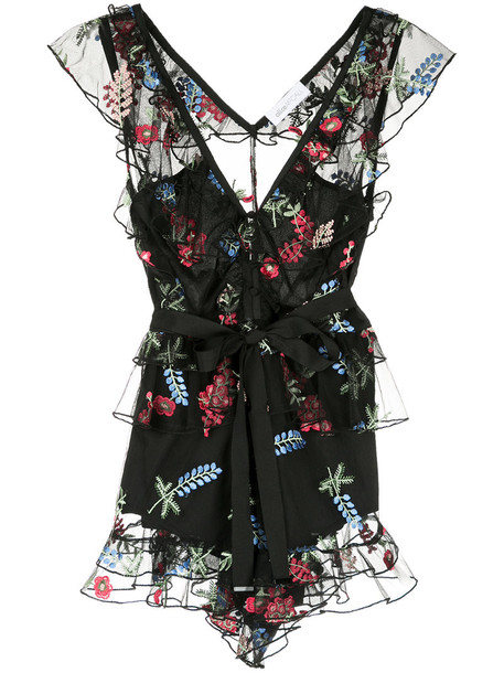 Alice Mccall - C'est Si Bon playsuit - women - Polyester - 6, Black, Polyester