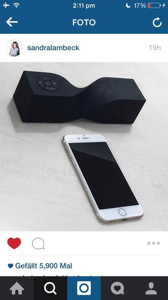 earphones black music iphone woven sound box white instagram