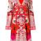 Roberto cavalli - floral print dress - women - silk - 40, red, silk