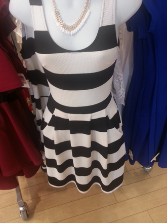 dress dillard's black and white dress striped dress dressy dresses