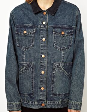 Monki | Monki Oversized Denim Jacket at ASOS