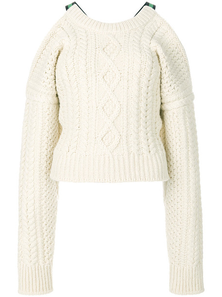 CALVIN KLEIN 205W39NYC sweater women spandex cold nude wool knit