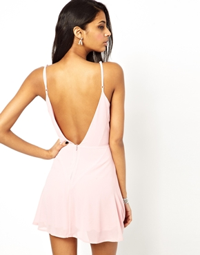True Decadence | True Decadence Cami Skater Dress with Low Back at ASOS