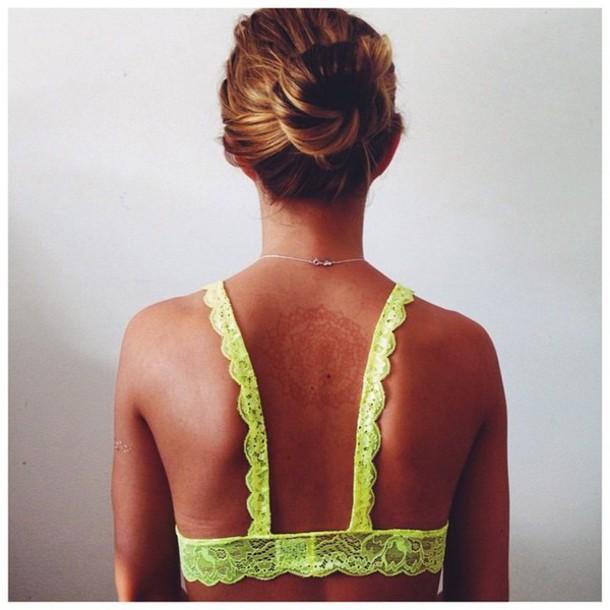 underwear lace bra bun