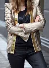 jacket,gold leather jacket,tumblr,metallic,gold,t-shirt,black t-shirt,adidas,adidas top,pants,black pants