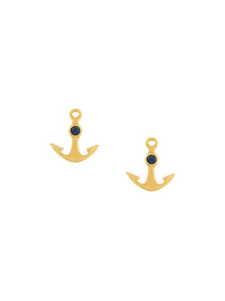 Astley Clarke mini anchor women earrings stud earrings gold yellow orange jewels