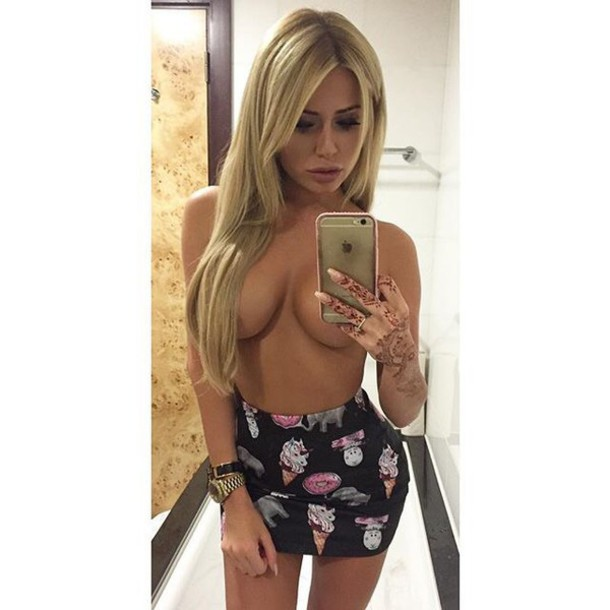 Short Skirt Blonde 10