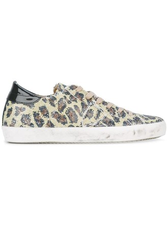 women sneakers leather cotton print yellow orange leopard print shoes