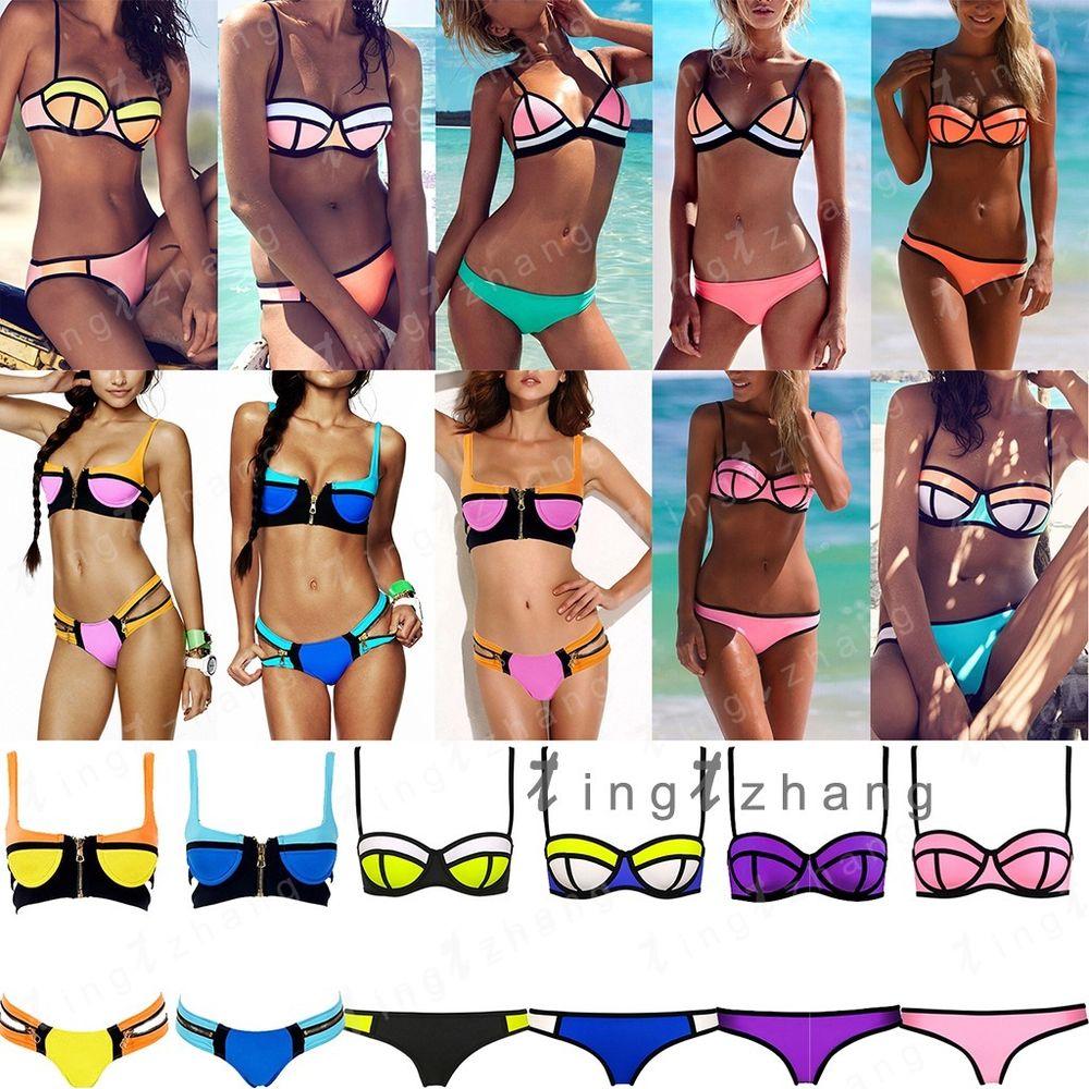 Up padded bra swimsuit collocation suit swimwear bathing bikini set