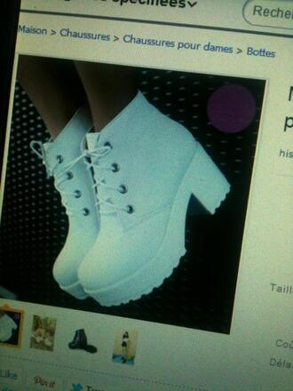 shoes high heels white girly